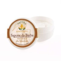 Shaving Soap with coconut oil and almond scent . La Saponeria Artigiana Mandorla.150ml