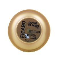 Figaro Monsieur Gold Shaving Soap with cocco and argan oil and oud scent . Tcheon Fung Sing . 125ml
